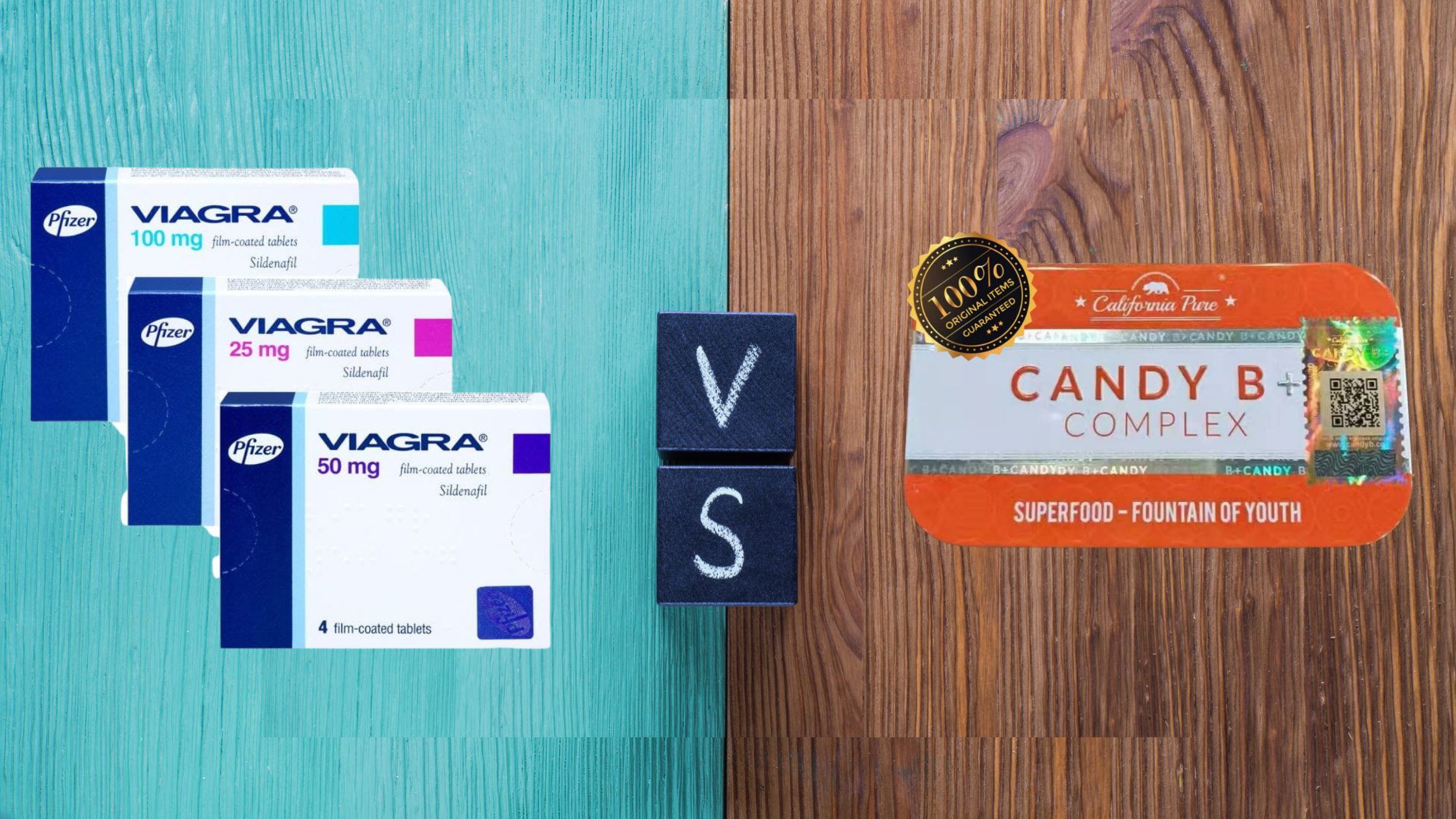 comparison between Candy B and Viagra